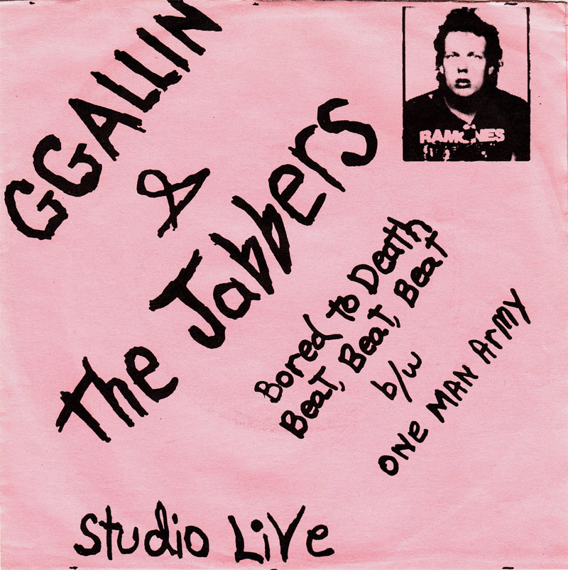 GG Allin & The Jabbers Bored To Death