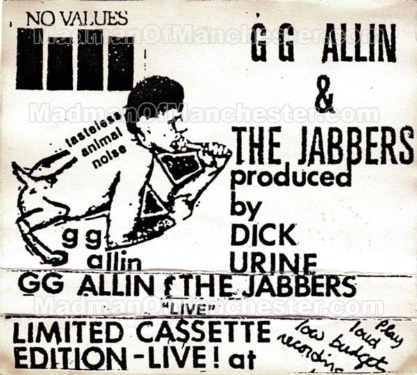 GG Allin Tasteless Animal Noise