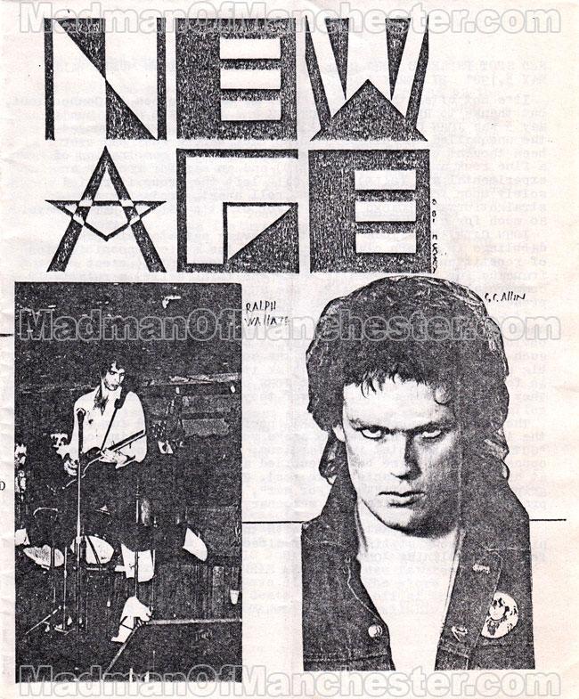 GG Allin New Age magazine